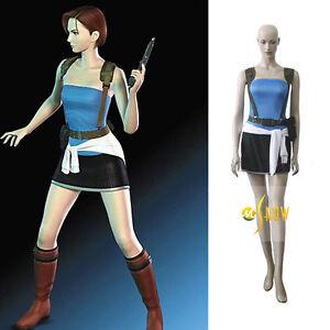 Details About Resident Evil 3 Extinction Jill Valentine Cosplay Costume Fancy Uniform Suit