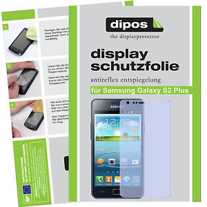 1x-Samsung-Galaxy-S2-Plus-Schutzfolie-matt-Displayschutzfolie-Antireflex