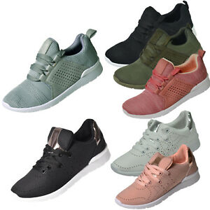 Womens Trainers Lace up Padded Comfy