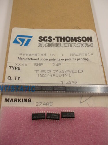 10 pieces TS274ACD HIGH PERFORMANCE CMOS QUAD OP AMP TLC274 NEW ~ 10 Stück