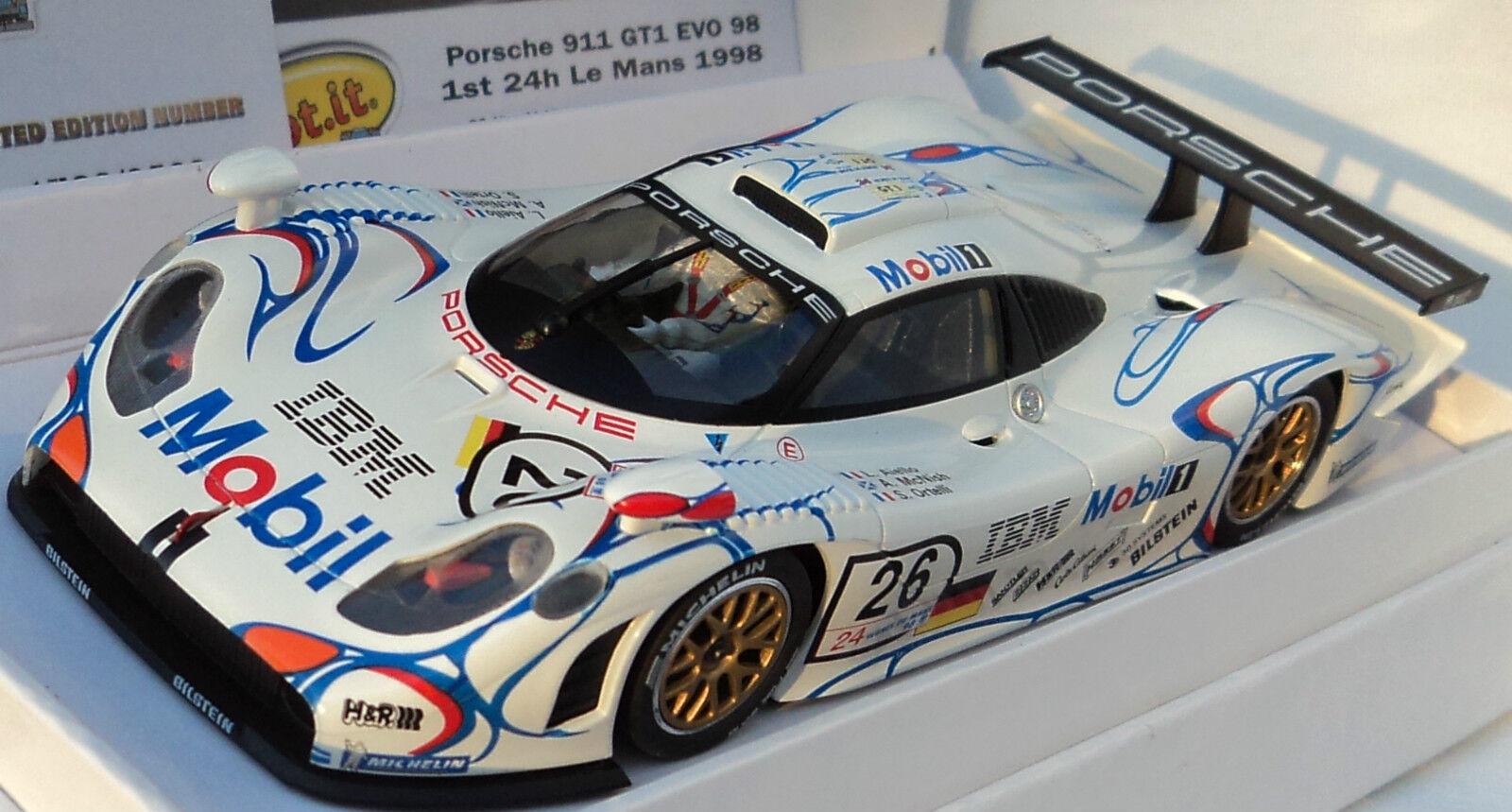 Slot it SICW 13 PORSCHE 911 GT1 Evolution 98 édition limitée Mobil Le Mans 1 32 CW13