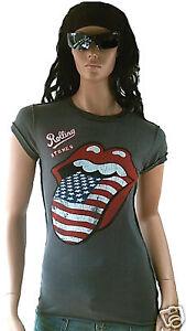 Vintage Usa Rock Maglietta Star 42 Rolling L Ufficiale Linguaccia Amplified Vip YnCZwZ