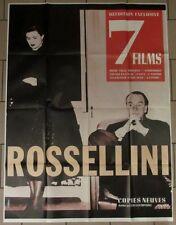 ROSSELINI 7 FILMS rétrospective affiche 120x160 cm
