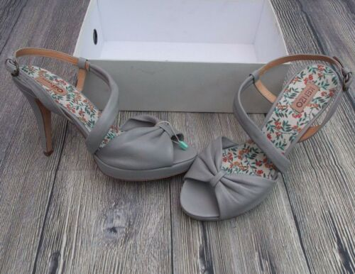 bnib Ankle grey genuine 7uk pumps Kenzo shoes Strap Bow Sandals 40 £400 Front qgCqOXdxw