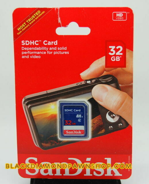 SanDisk 5 Pack 32GB SD HC Class 4 Secure Digital High Speed SDHC Flash Memory Card SDSDB-032G 32G 32 GB GIGS LOT of 5 with USB SoCal Trade SD Memory Card Reader Retail Pack S.B32.RTx5.562