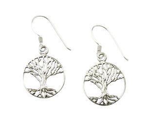 Orecchini-pendenti-in-925925-argento-sterling-ABETE-della-vita-albero
