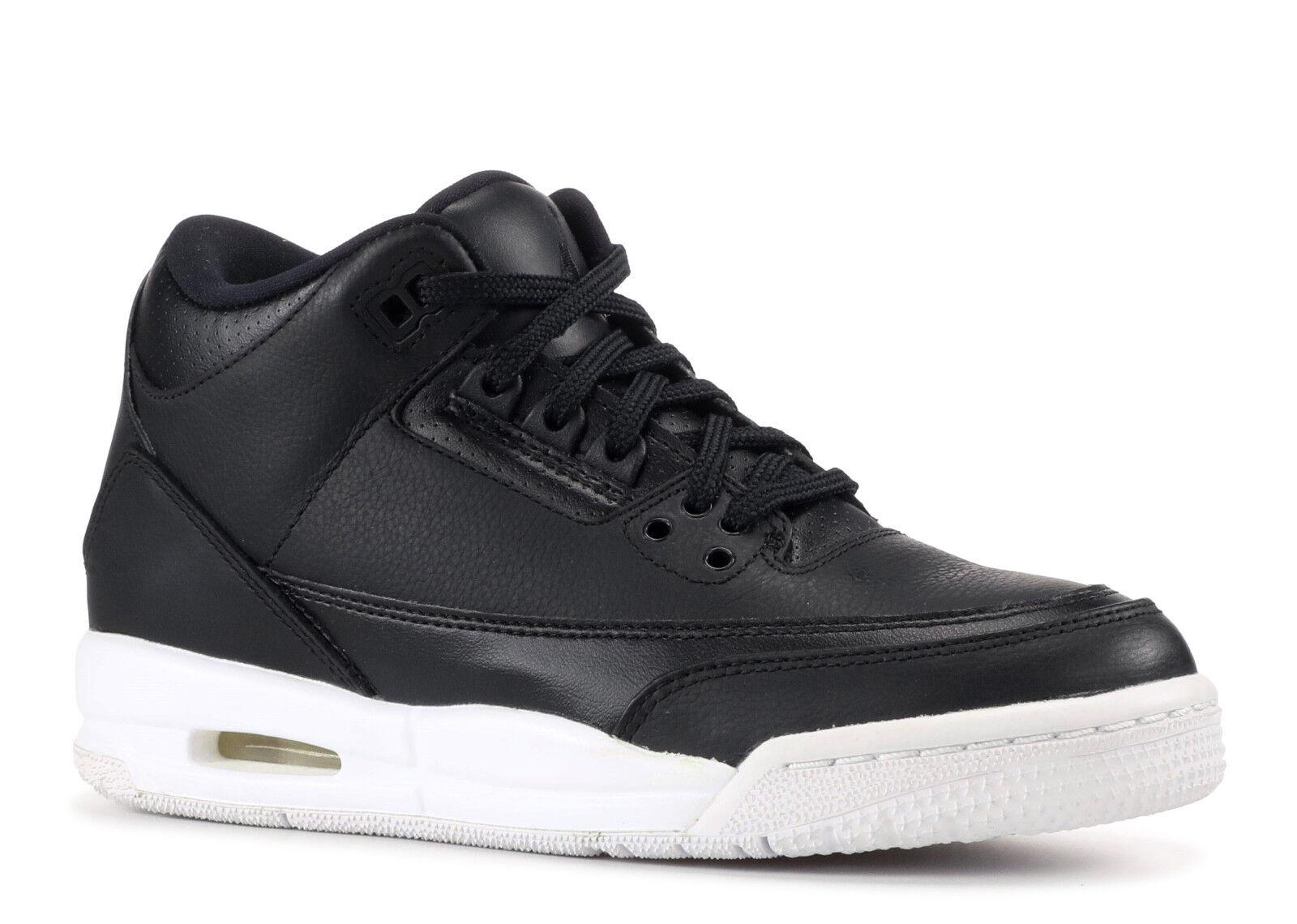 NEW Nike Air Jordan 3 Retro BG Youth Basketball shoes Black Kids Size 6Y