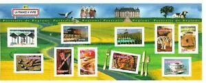 Bloc-Feuillet-2003-N-57-Timbres-France-Neufs-Portraits-de-Regions-Non-plie