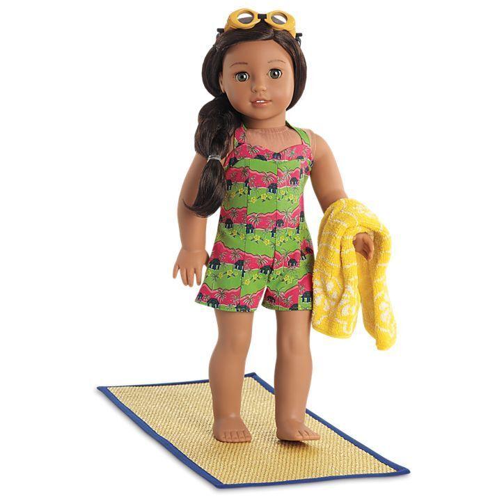 American Girl Doll NANEA Island Swimsuit Set New in Box & Nanea Catalog