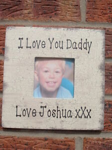 Shabby Vintage Chic I Love You Daddy Pops Grandpa Photo Frame