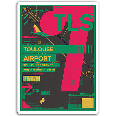2 x Toulouse France Vinyl Sticker Laptop Travel Luggage Car #6022