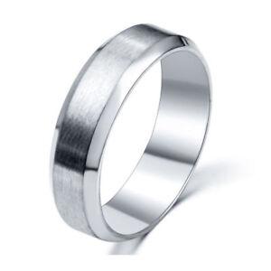 cc67b7cd1026 La imagen se está cargando Anillo-de-acero-inoxidable-con-venda-de-titanio-