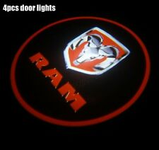 4x Cree LED Logo For Dodge Ram Car Door Projector Courtesy Ghost 3D Shadow Light
