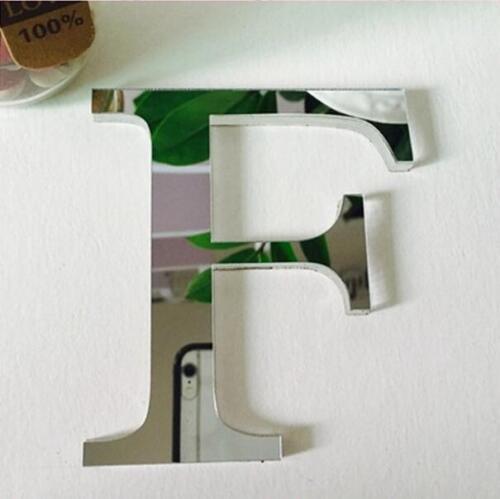 DIY Decor Classic Creative 26 Letters 3D Mural Mirror Dreamy Wall Sticker Decal