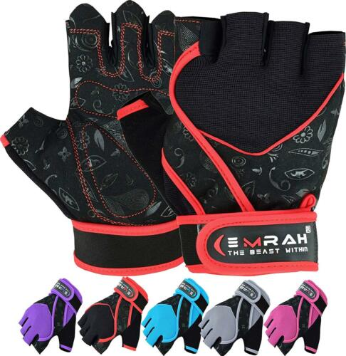 EMRAH Ladies Padded Fitness Training Lifting Exercise Gym Gloves for Women