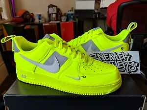 cheaper 858e1 f12fd Image is loading Nike-Air-Force-One-1-Utility-Bright-Volt-