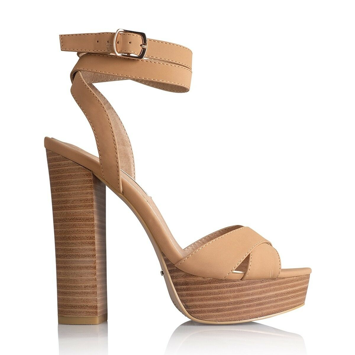 BILLINI PLATFORM ELIA TAN PLATFORM BILLINI HEELS SANDALS WRAP AROUND ANKLE STRAP 37 SOLD OUT 54ff3e