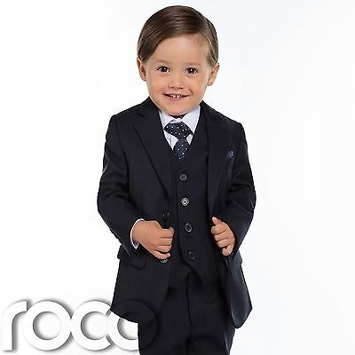 Amichevole Baby Ragazzi Blu Navy Suit, Navy Pagina Ragazzo Abiti A Giacca, Slim Fit Suit, Toddlers Suit-mostra Il Titolo Originale Pulizia Della Cavità Orale.