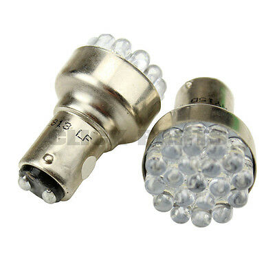 380 RED 19 LED STOP BRAKE TAIL LIGHT BULBS LAMPS 1157 BAY15D P21/5W X 2 PAIR 12V