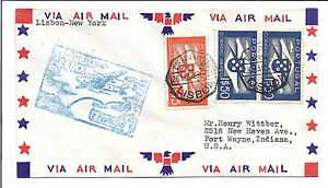 Portugal-FFC-First-Flight-Cover-FAM-18-Lisbon-to-New-York-May-26-1939