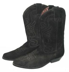 """"""" West Country """" D'Homme Bottes / Bottes de Cowboy Noir Env. Gr. 44,5"""