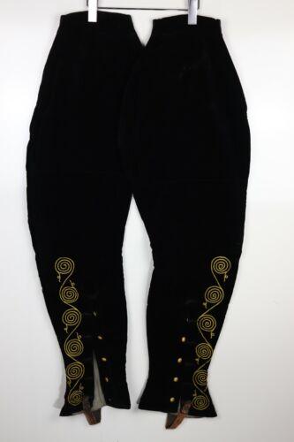 Vintage 1920s-30s Pettibone Bros Black/Gold Velvet