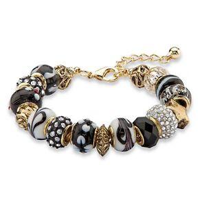 Black-and-White-Crystal-Antiqued-Gold-Tone-Bali-Style-Bracelet