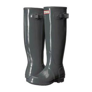 womens hunter rain boots original tall gloss rubber knee