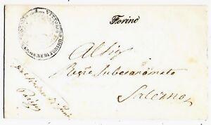 Regno-Storia-Postale-Annullo-Corsivo-Forino-viaggiata-per-Salerno