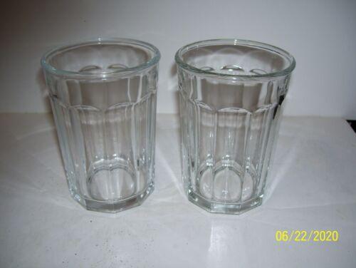 Luminarc Clear Glass 10 Sided Glasses Tumblers 16 oz vgc
