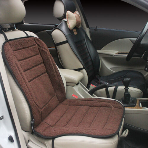 NEW Car Thick Winter Seat Cover Car Electric Heated Cushion 12V Warmer Plush Pad