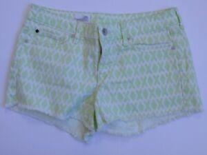 cc0454ce97 GAP 1969 Green White Print Cotton Stretch Denim