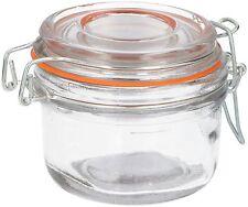 6 x Mini Clip Top Ermetico Sigillo Magazzinaggio di prodotti alimentari preservare BARATTOLI CONTENITORE IN VETRO