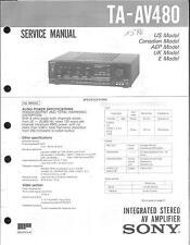 Sony Original Service Manual für TA-AV 480