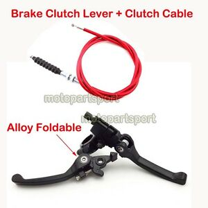 Red-Brake-Clutch-Lever-Cable-For-110cc-125cc-150-160-cc-Pit-Dirt-Bike-CRF50-XR50