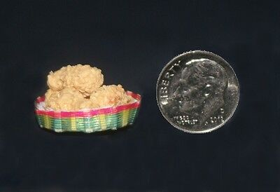 Dollhouse miniature 1:12 Сhicken in the basket