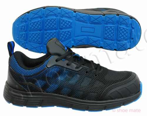 Ladies Womens Ultra Lightweight Steel Toe Cap Work Safety Ankle Trainers Shoes z