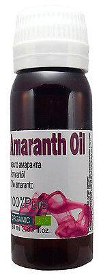 Amaranth Oil Pure Organic 60ml  Free Shipping 9% Squalene