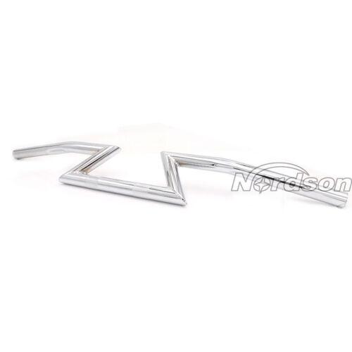 "7//8/"" Motorcycle Handlebar Z-Bars For Chopper Cruisers Bobber Bike Kawasaki Honda"