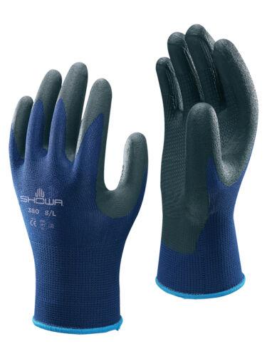 10 SHOWA 380 nitrile mousse palm coated grip résistant à l/'huile sécurité gants de travail 8//L