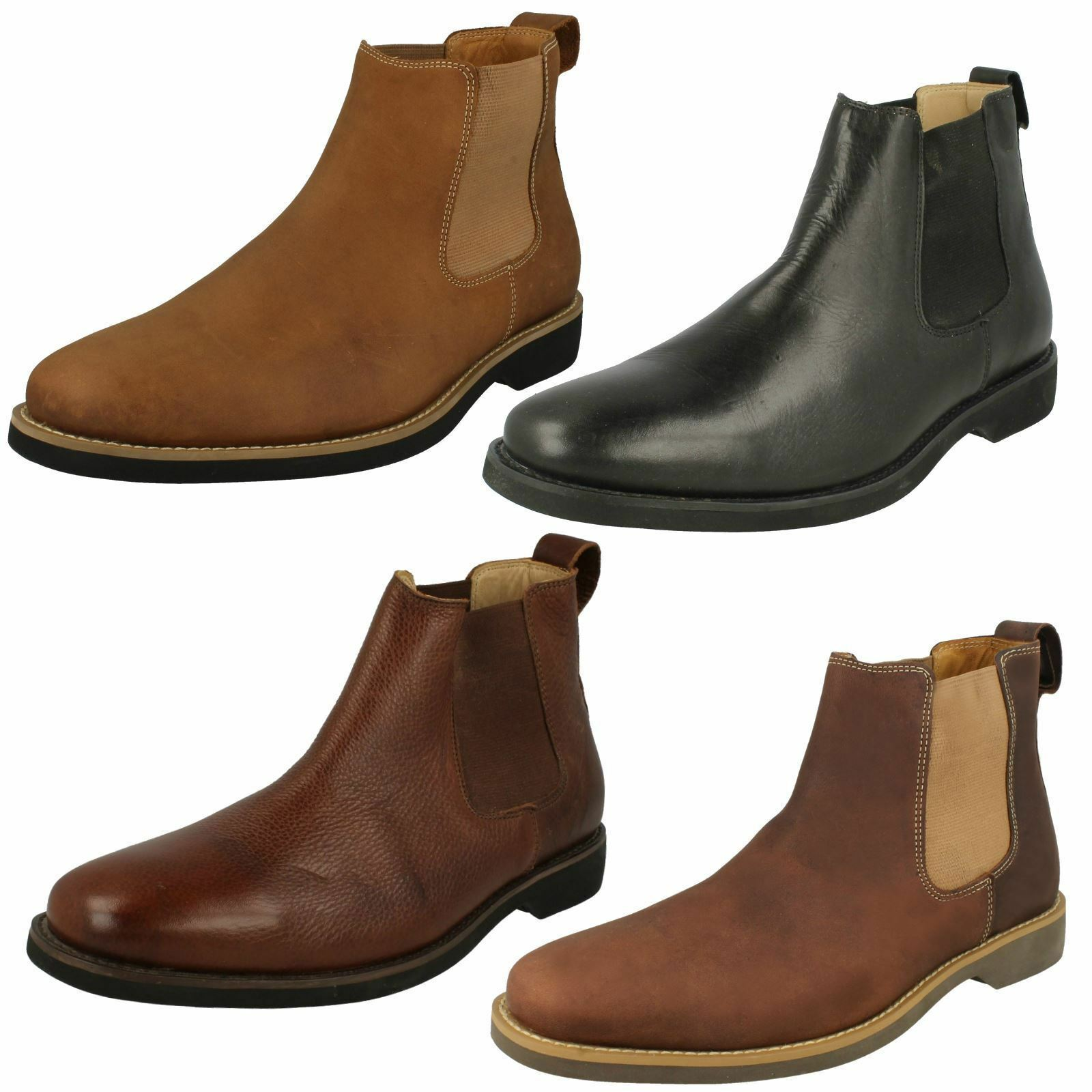Mens Anatomic Chelsea Pull On Leather Ankle Boots Cardoso