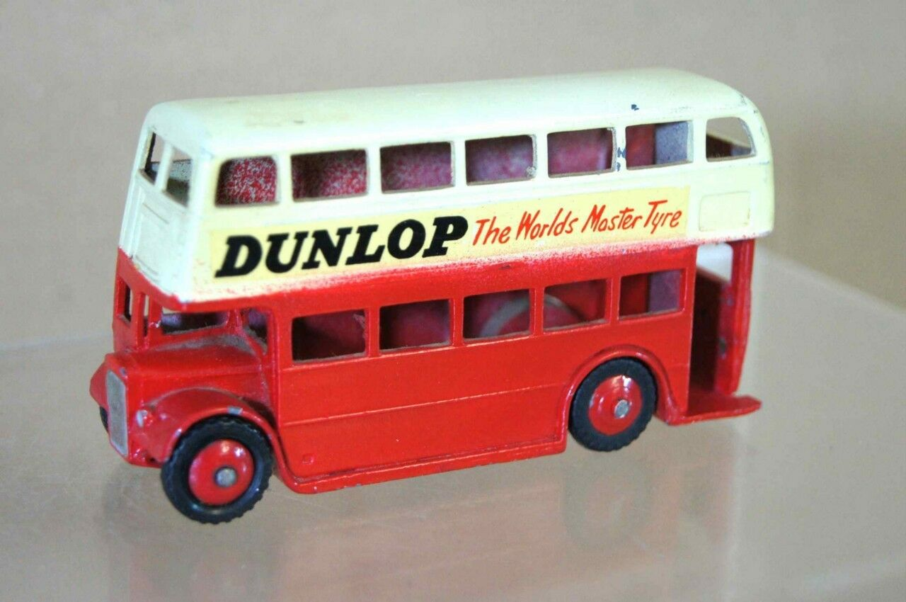 Dinky 290 London Transport Double Decker Bus Dunlop Restaurado Mv