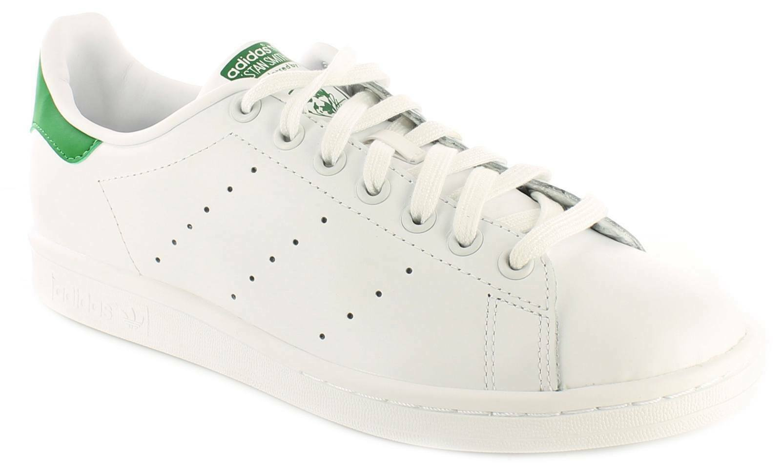 Hombre Caballeros blancoo Adidas Originals Stan Smith con Cordones Zapatillas