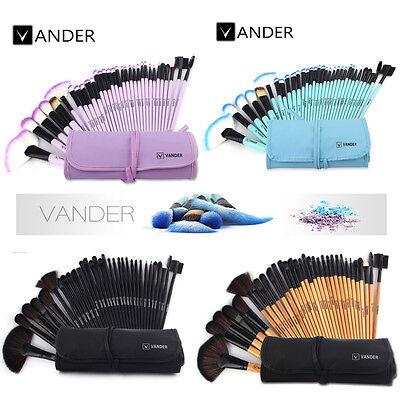 Pro Makeup Set CF Powder Foundation Eyeshadow Eyeliner Lip Cosmetic Brushes Tool