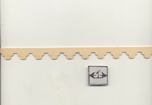 Scallop Gingerbread Trim 7084 molding dollhouse 1pc 1//12 scale Houseworks wood