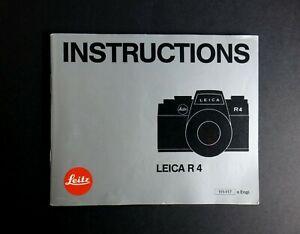 Leica-R4-35mm-SLR-Camera-Instruction-Manual-English-Edition