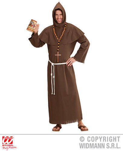 Mens Male Monk Fancy Dress Costume Friar Tuck Religious Outfit Adult