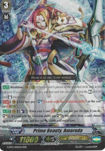 CARDFIGHT VANGUARD CARD AMARUDA G-BT11//005EN RRR PRIME BEAUTY