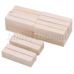 10PCS-Wooden-No-Stand-Place-Name-Wedding-Table-Memo-Card-Photo-Postcard-Holder