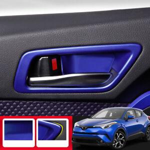 Auto Interior Door Handle Bowl Cover Trim For Toyota C-HR CHR 2016 2017 2018 ABS Matte 4PCS//SET